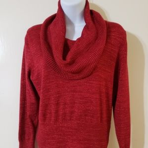 Long sleeve cowl-neck sweater